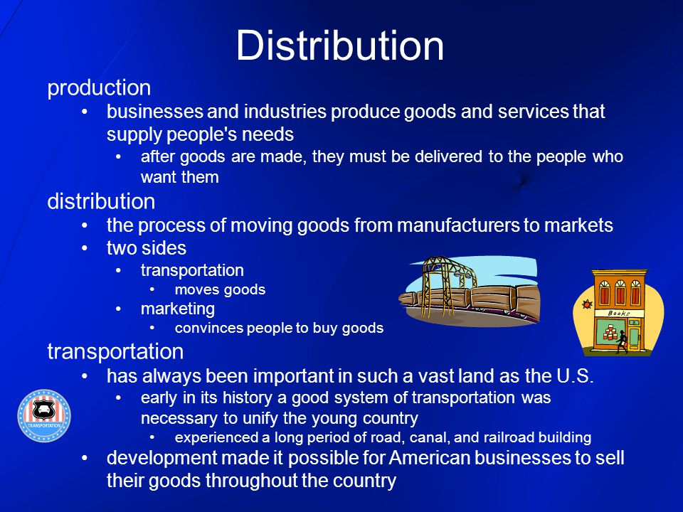 Distribution production distribution