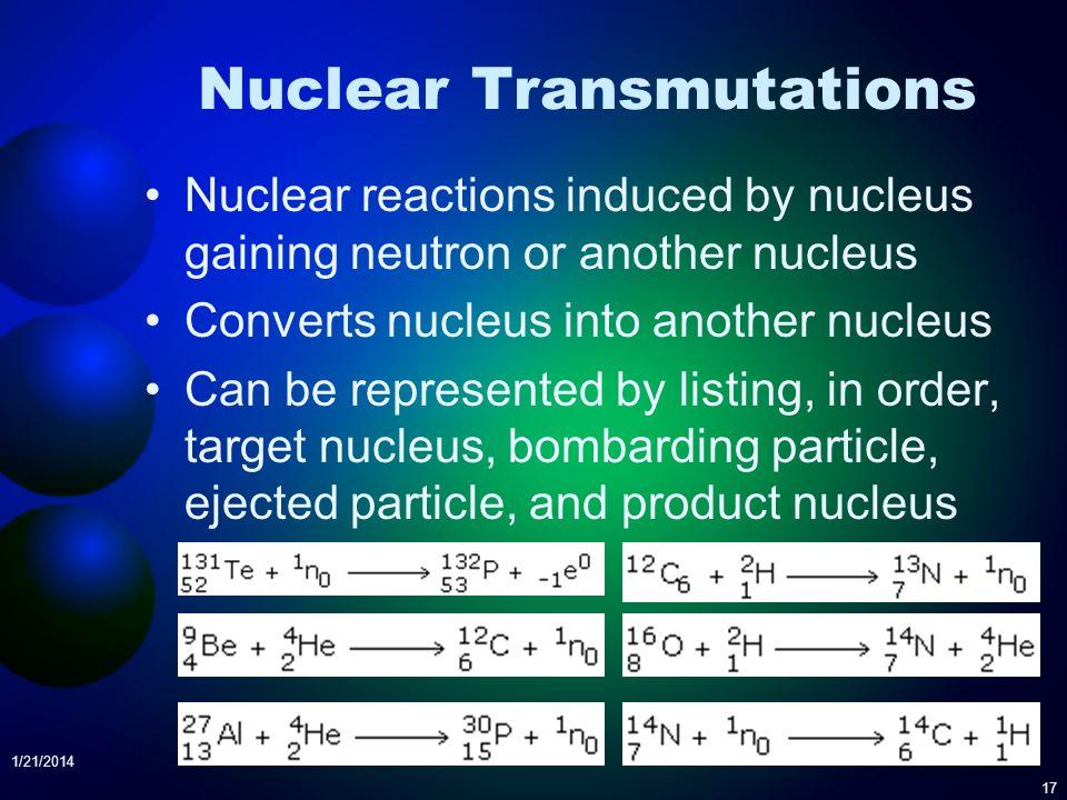 Nuclear Transmutations
