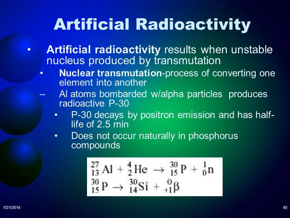 Artificial Radioactivity