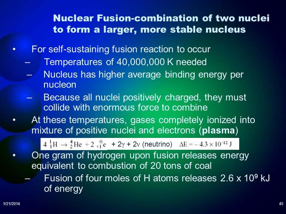For self-sustaining fusion reaction to occur