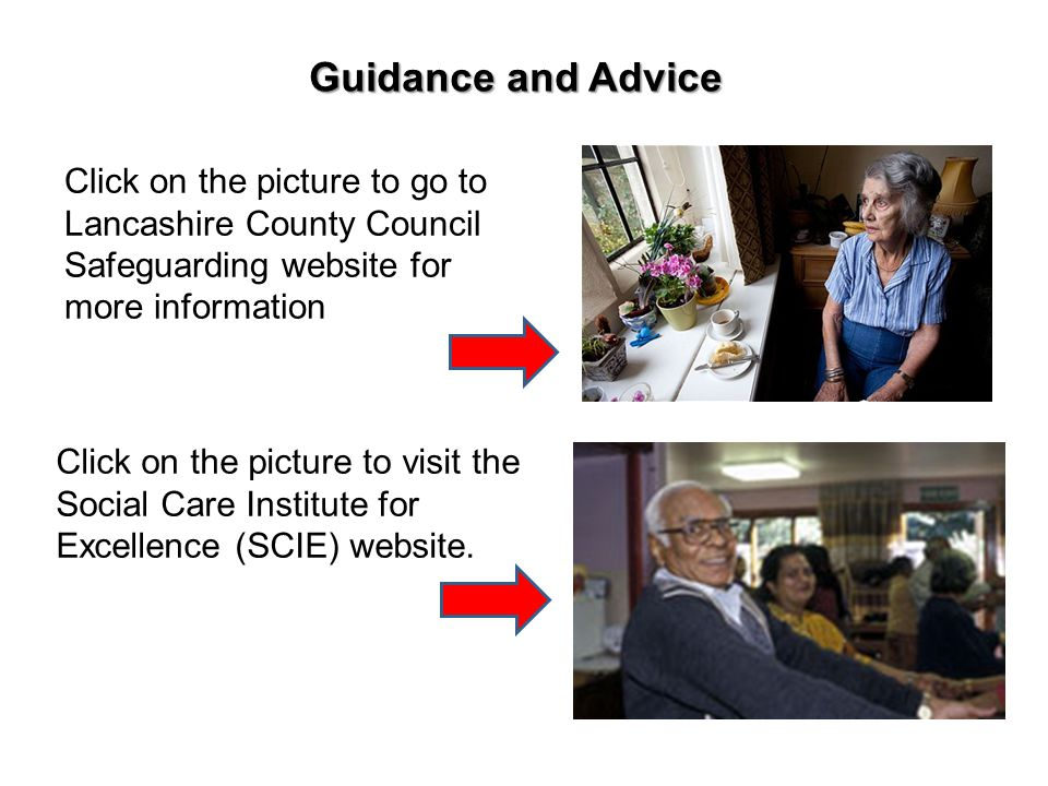 Guidance and Advice Click on the picture to go to Lancashire County Council Safeguarding website for more information.