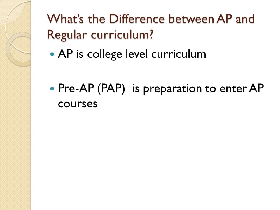 What's the Difference between AP and Regular curriculum