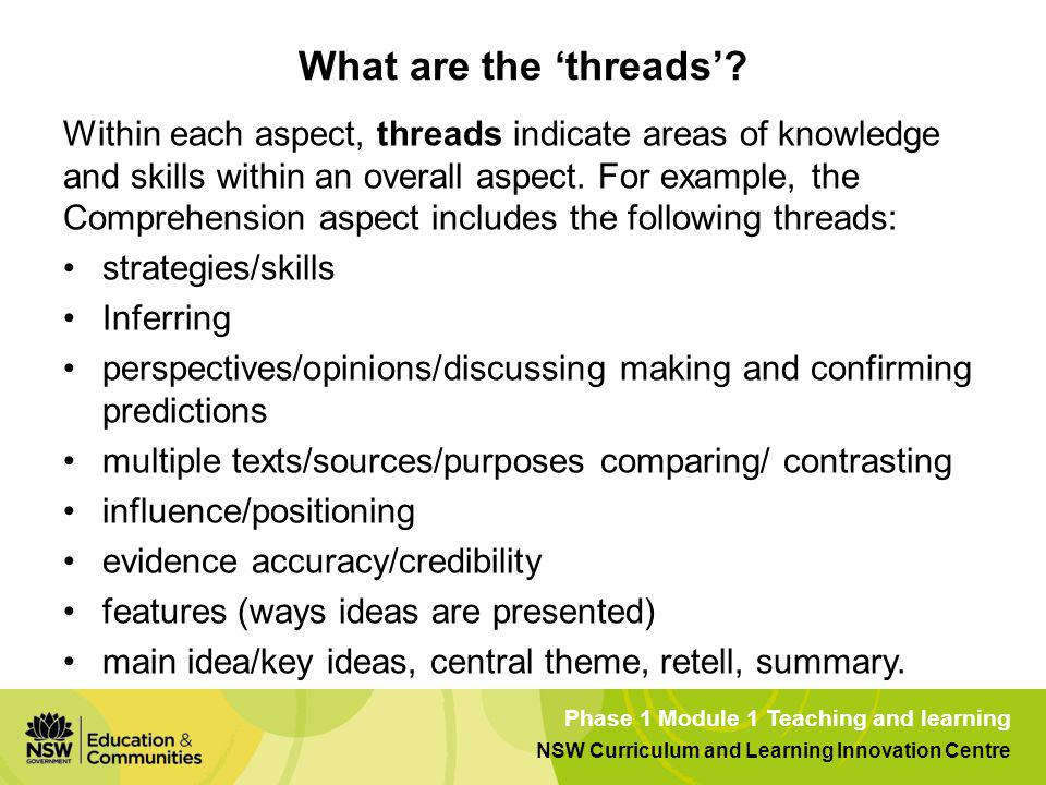 What are the 'threads'