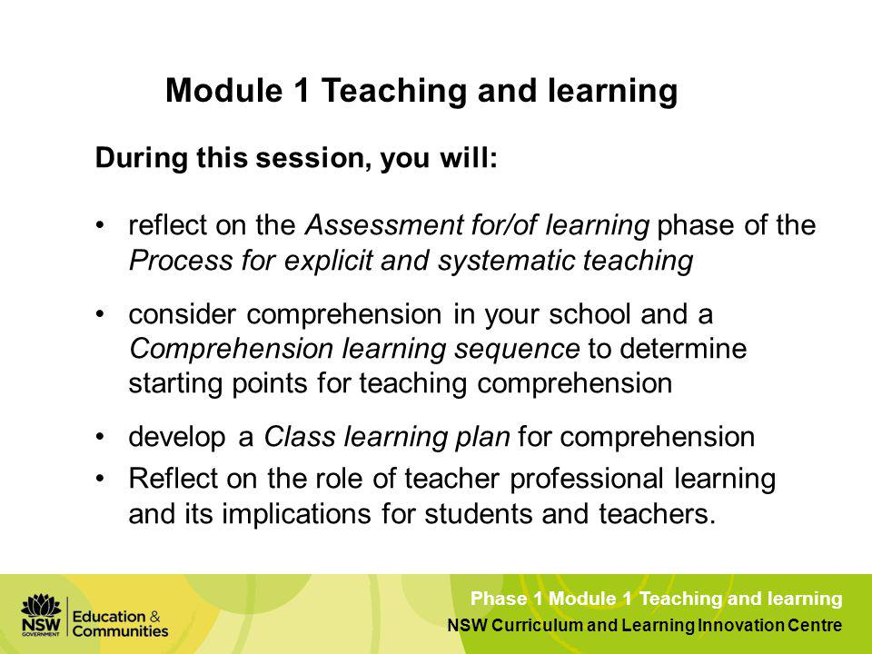 Module 1 Teaching and learning