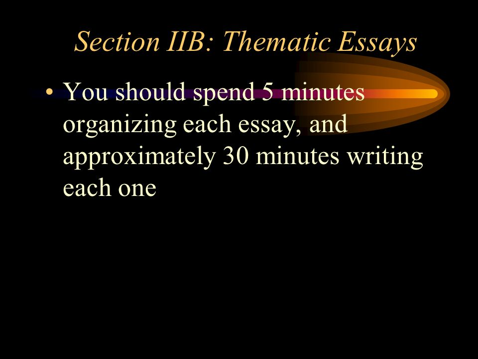 Section IIB: Thematic Essays