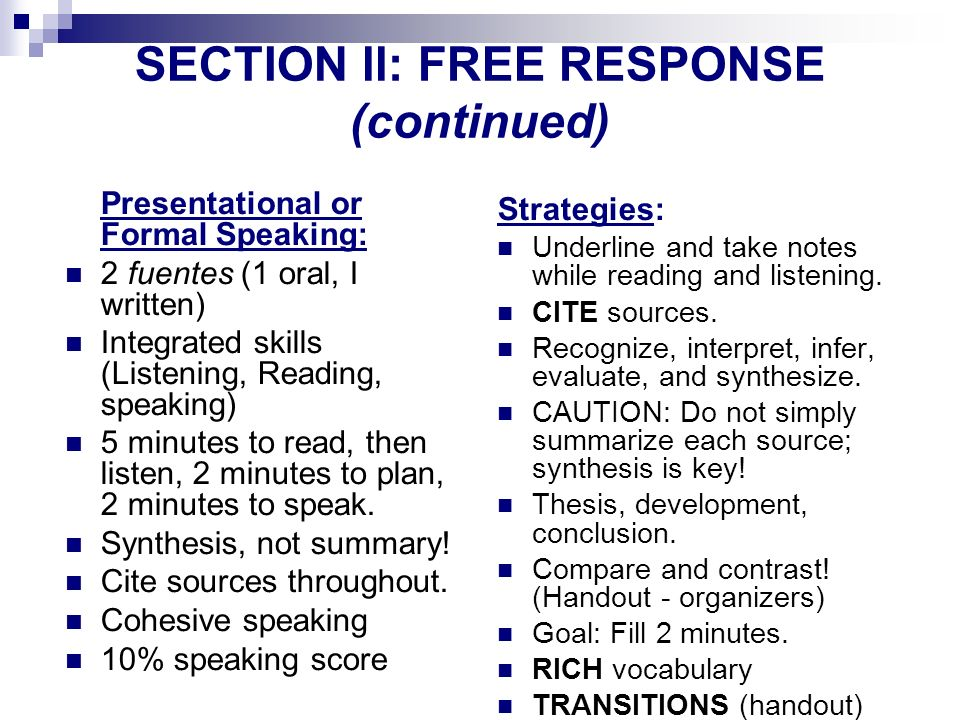 SECTION ll: FREE RESPONSE (continued)