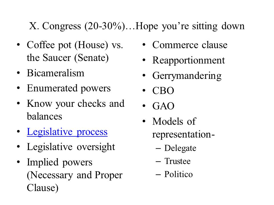 X. Congress (20-30%)…Hope you're sitting down
