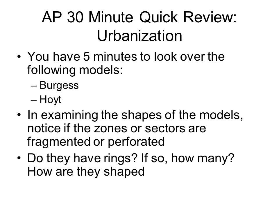 AP 30 Minute Quick Review: Urbanization