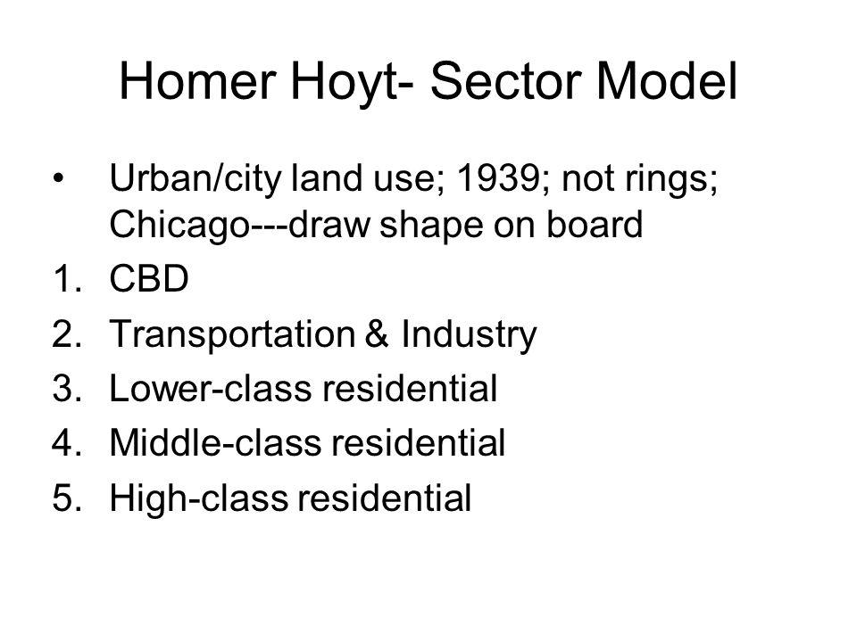 Homer Hoyt- Sector Model