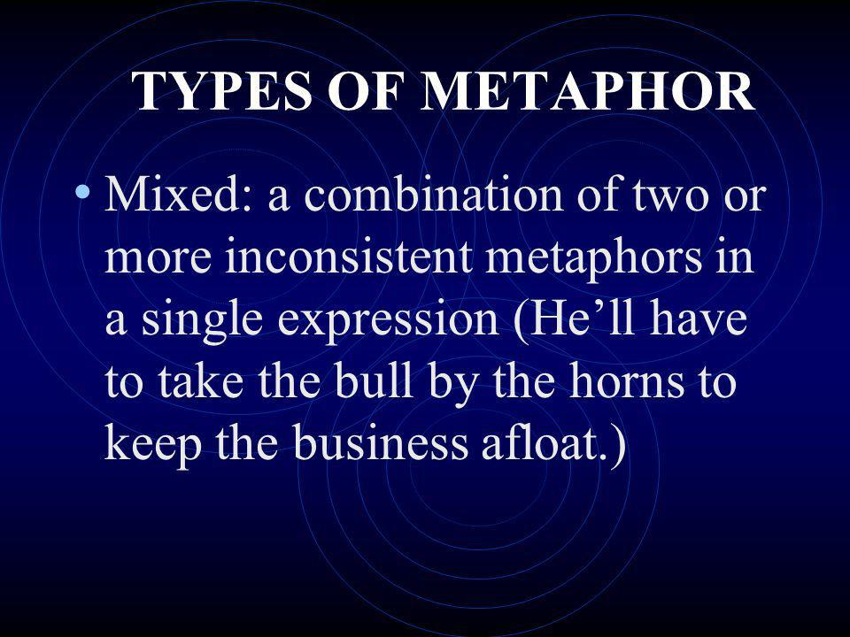 TYPES OF METAPHOR