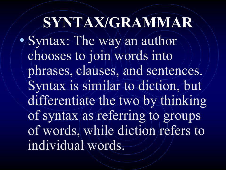 SYNTAX/GRAMMAR