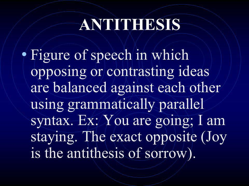 sentence using antithesis