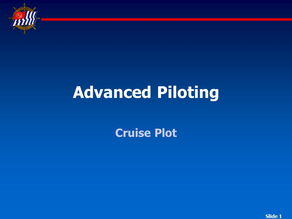 Advanced Piloting Cruise Plot