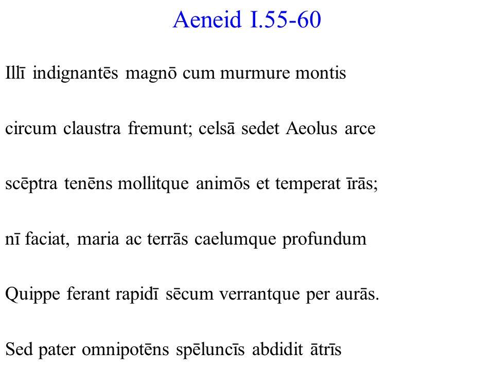 Aeneid I.55-60 Illī indignantēs magnō cum murmure montis