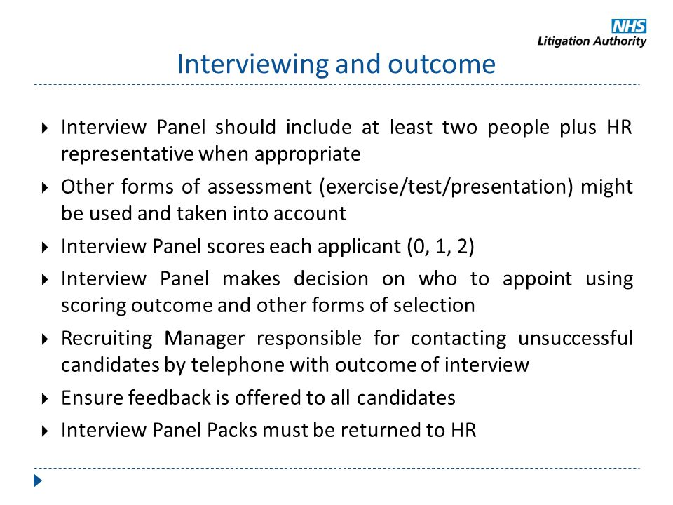 Interviewing and outcome