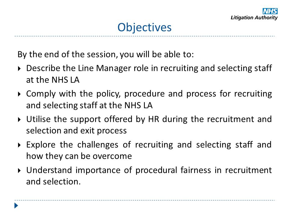 Objectives By the end of the session, you will be able to: