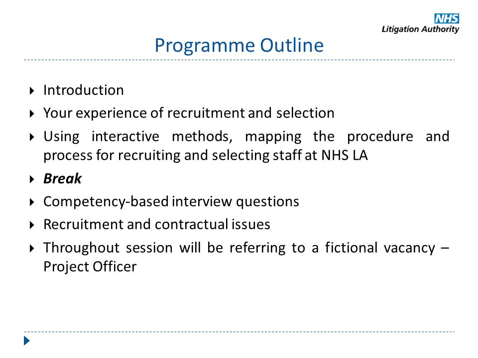 Programme Outline Introduction