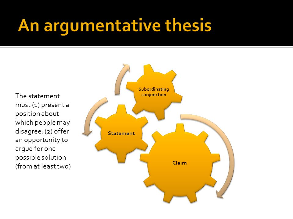 An argumentative thesis