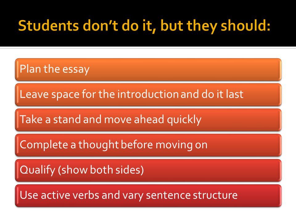 Students don't do it, but they should: