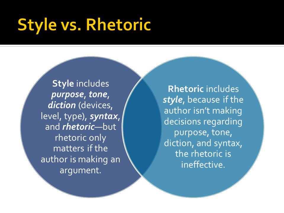 Style vs. Rhetoric
