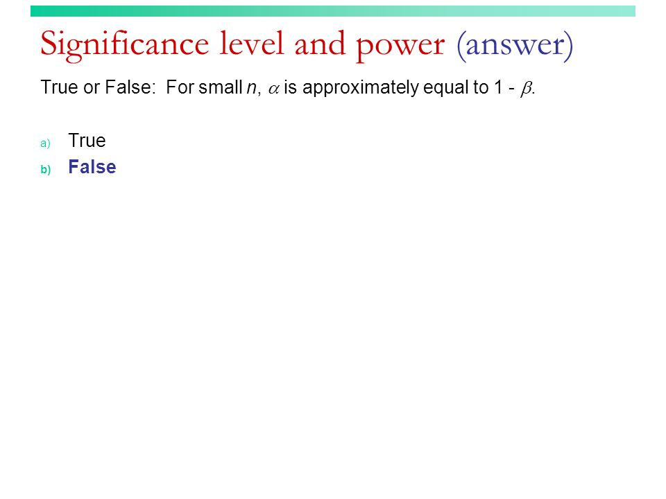 Significance level and power (answer)