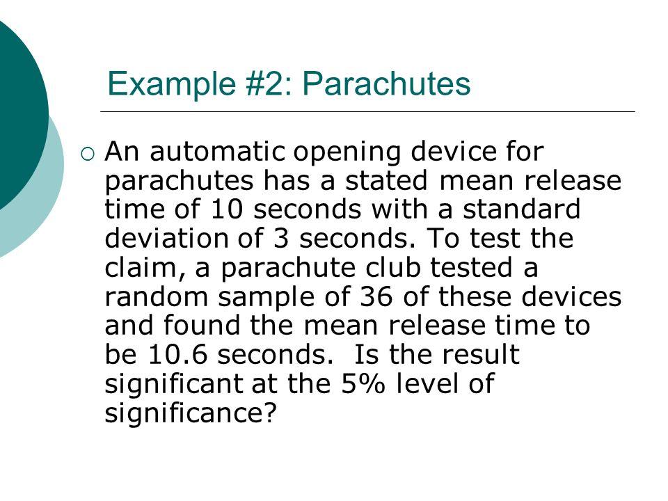 Example #2: Parachutes