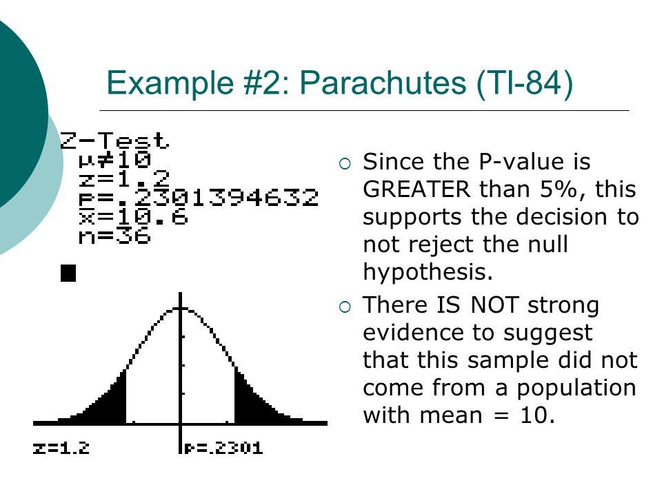 Example #2: Parachutes (TI-84)