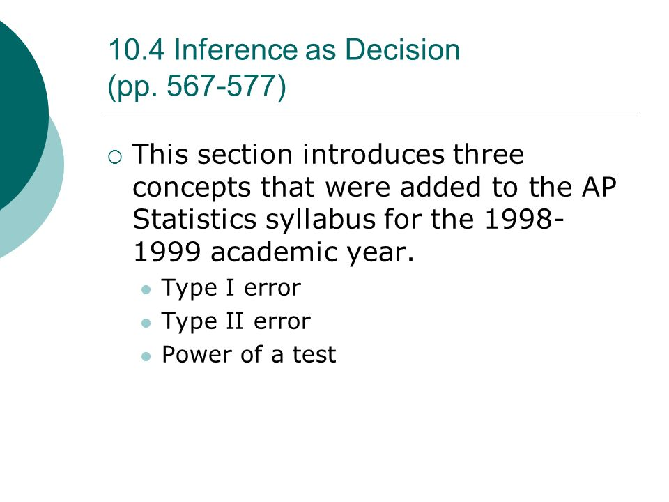 10.4 Inference as Decision (pp. 567-577)
