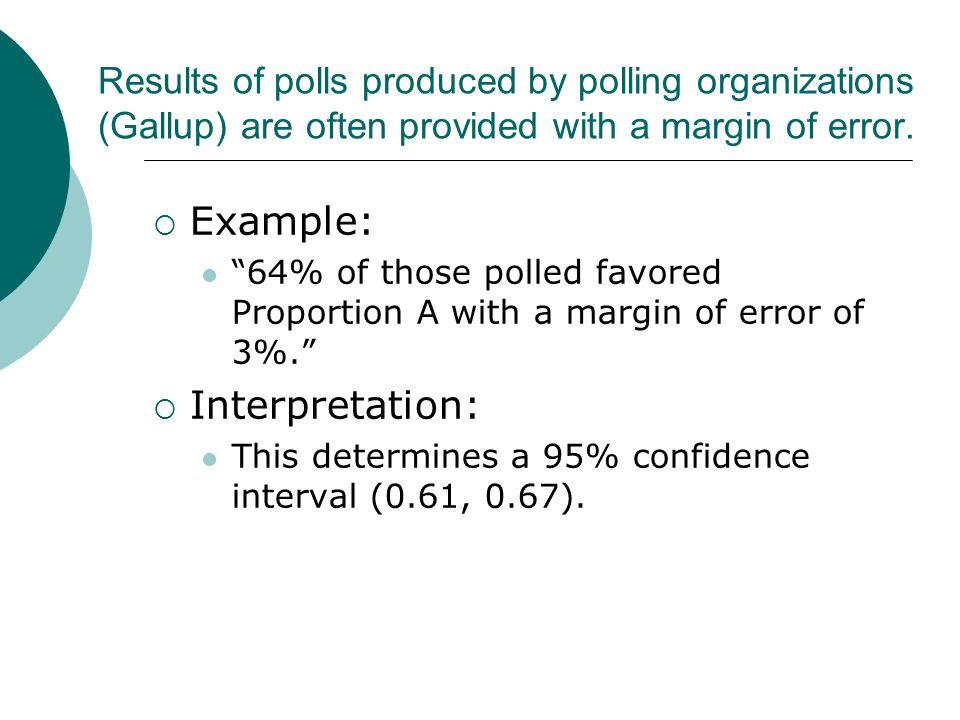 Example: Interpretation: