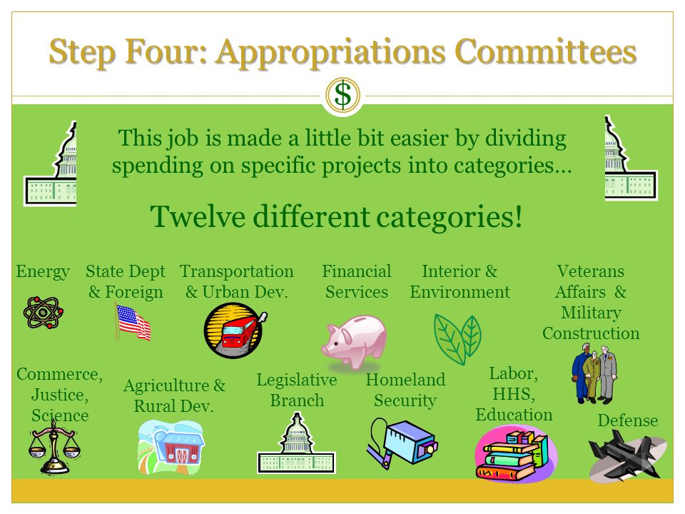 Step Four: Appropriations Committees