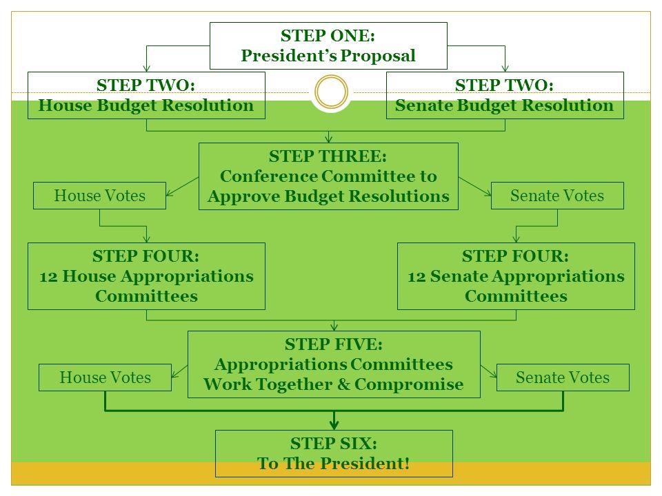 House Budget Resolution STEP TWO: Senate Budget Resolution