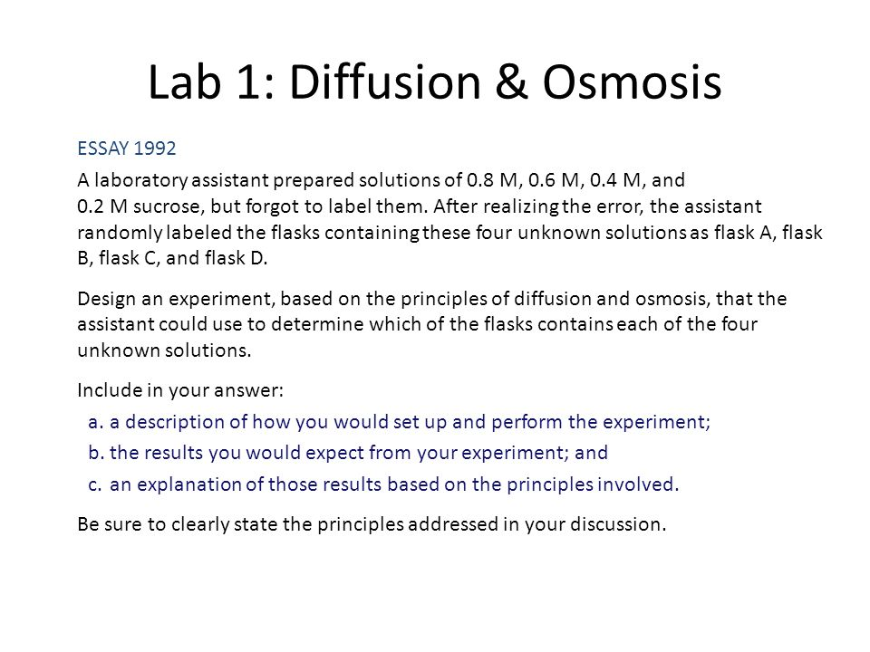 ap lab review ppt video online  lab 1 diffusion osmosis