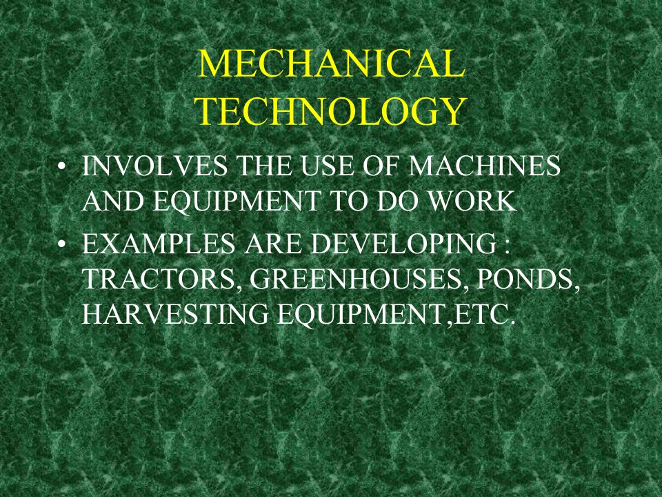 MECHANICAL TECHNOLOGY