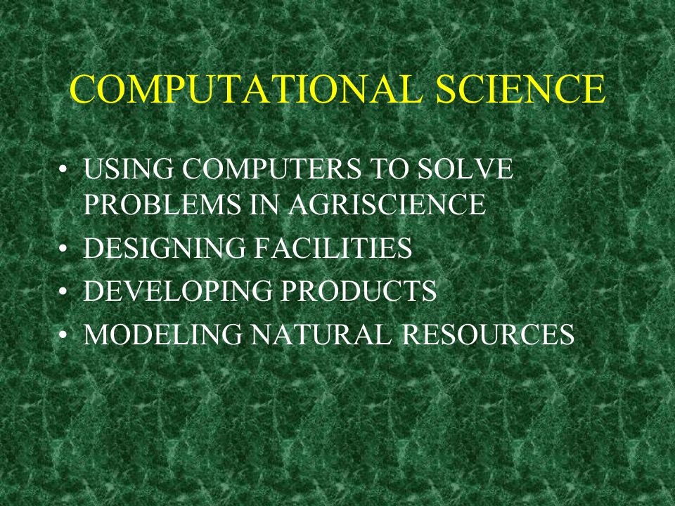 COMPUTATIONAL SCIENCE