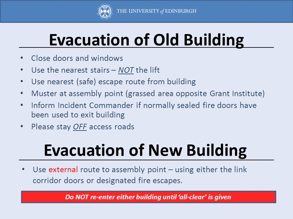 Evacuation of Old Building