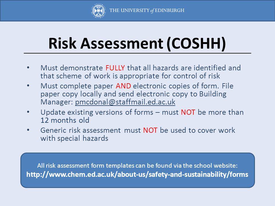Risk Assessment (COSHH)