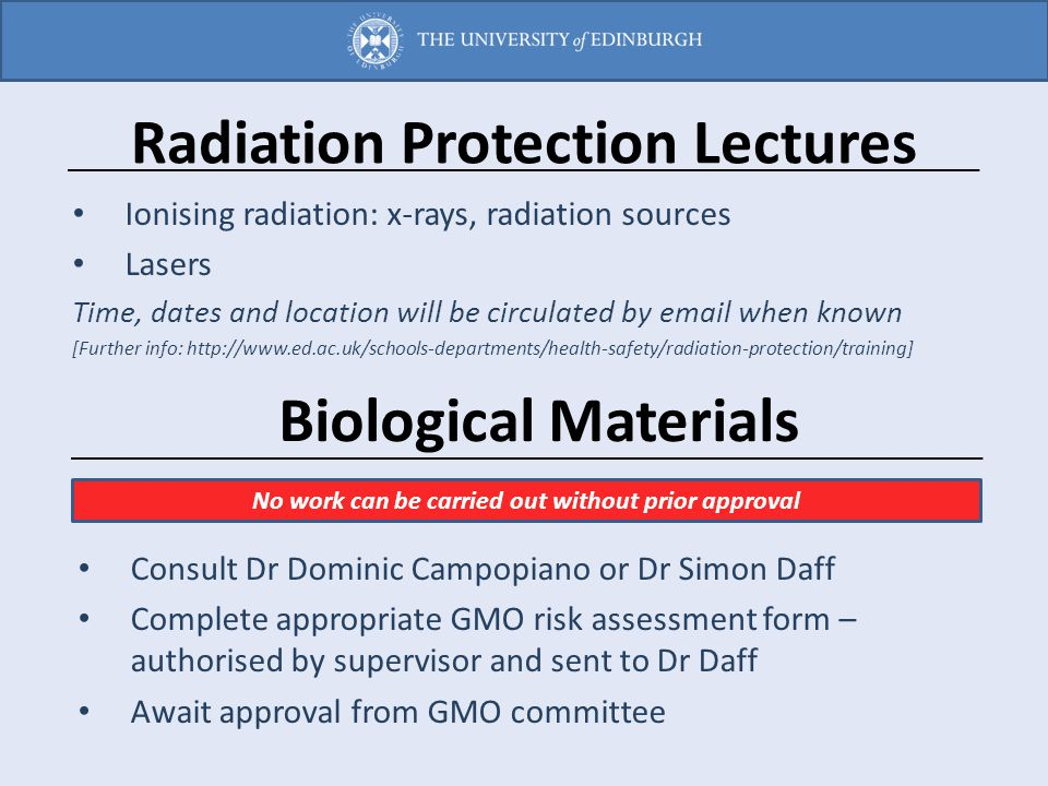 Radiation Protection Lectures