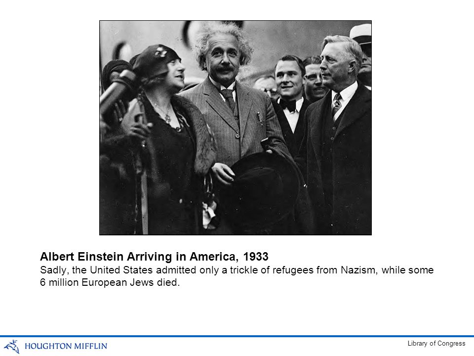 Albert Einstein Arriving in America, 1933