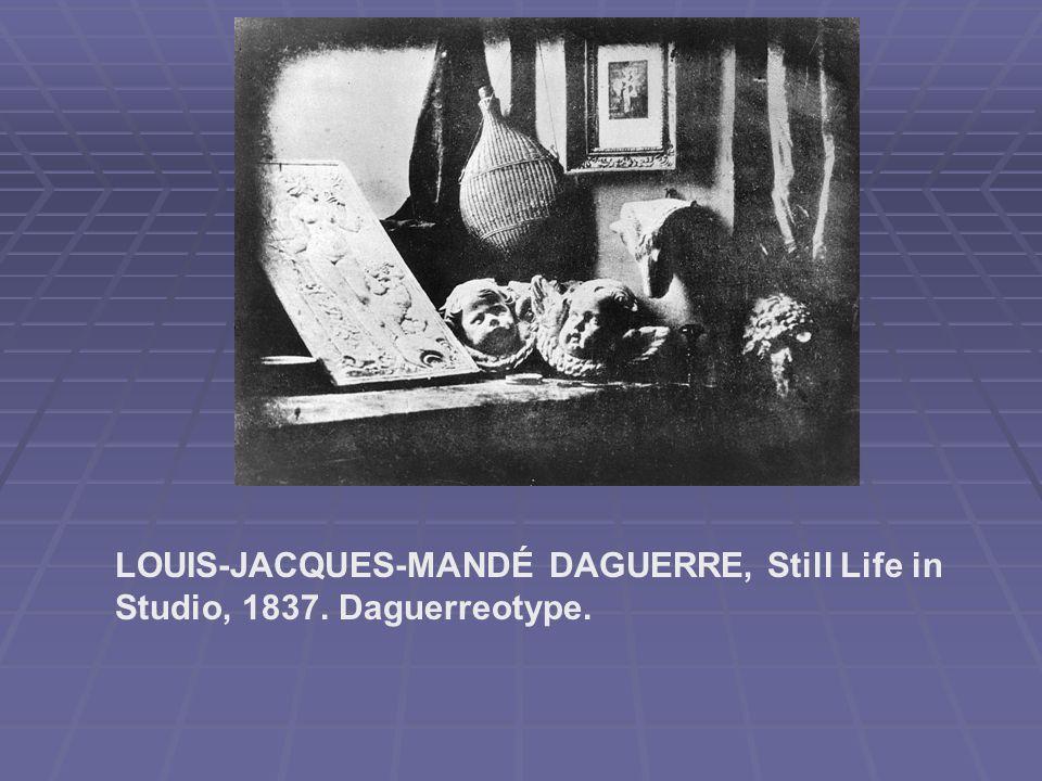 LOUIS-JACQUES-MANDÉ DAGUERRE, Still Life in Studio, 1837. Daguerreotype.