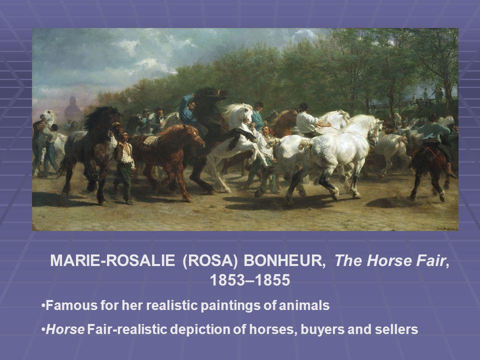 MARIE-ROSALIE (ROSA) BONHEUR, The Horse Fair, 1853–1855