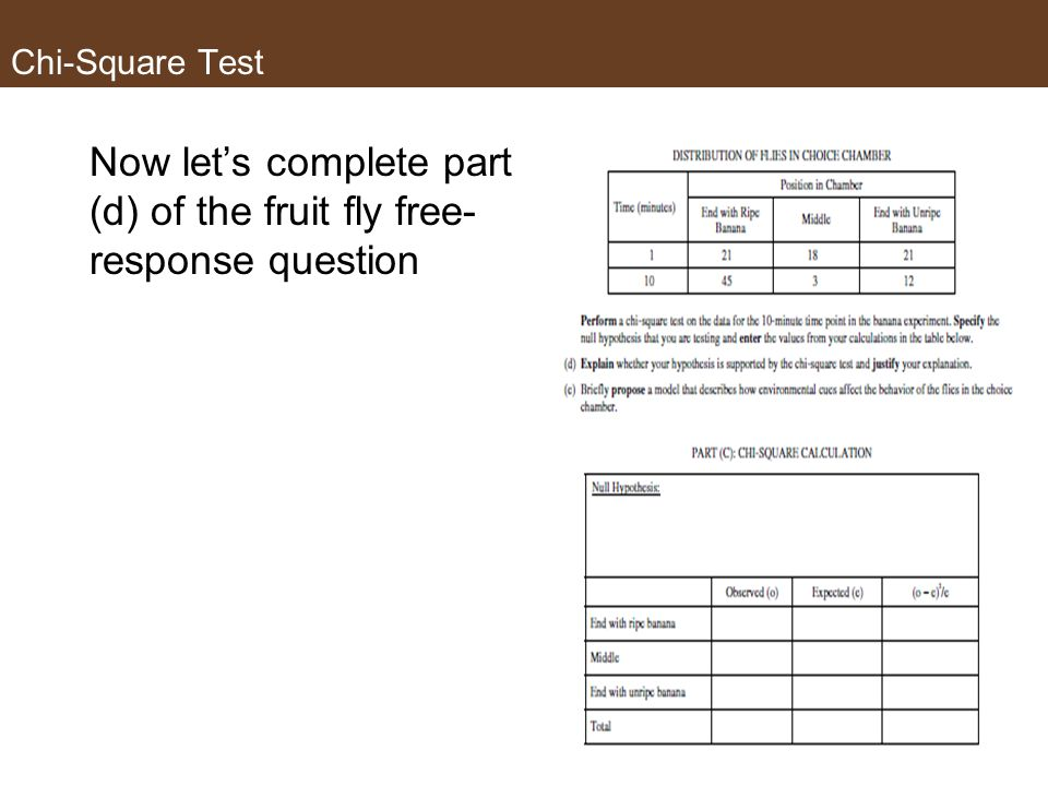 Now let's complete part (d) of the fruit fly free- response question