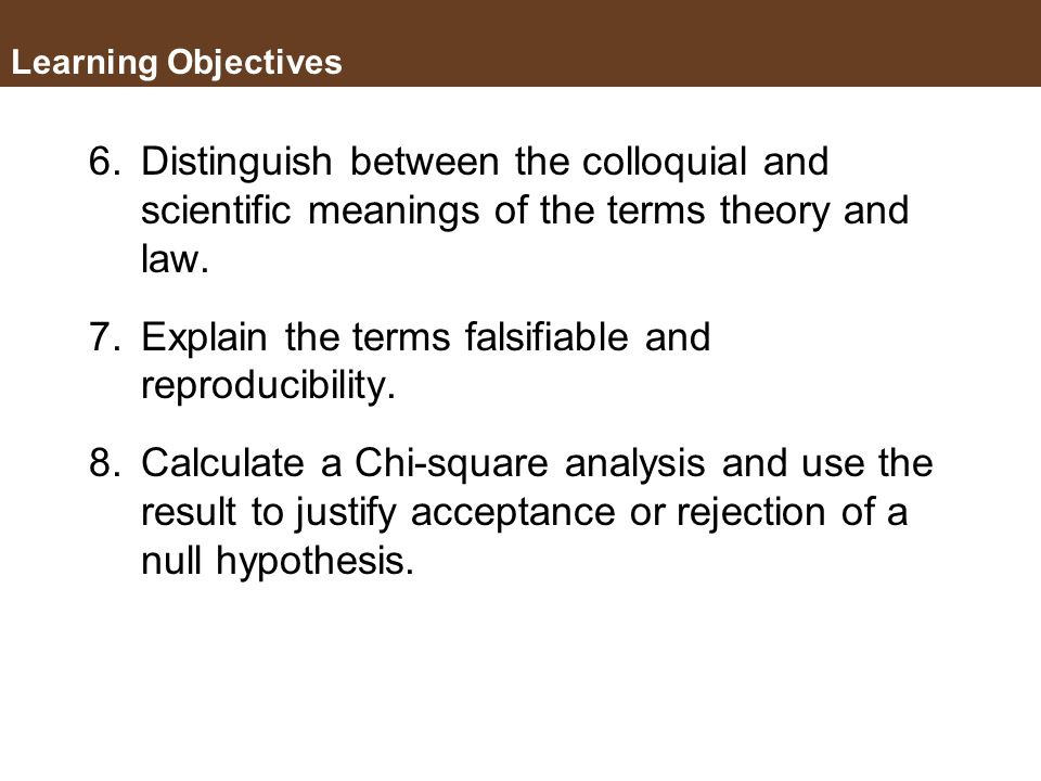 Explain the terms falsifiable and reproducibility.