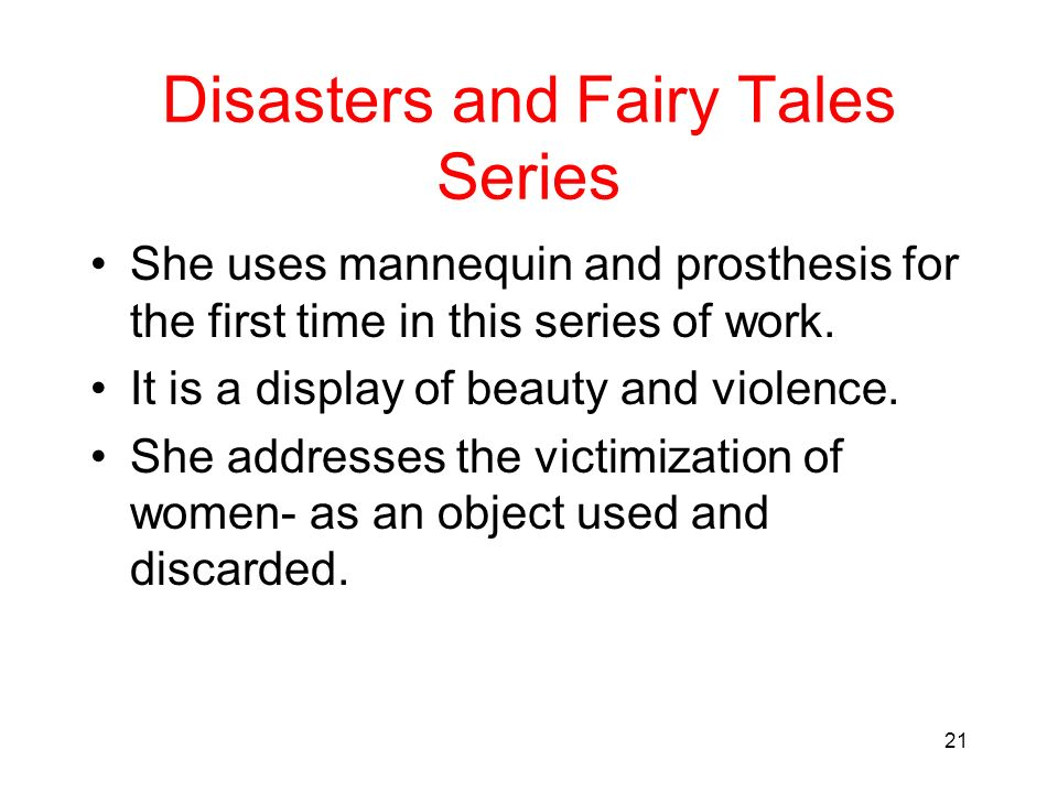 Disasters and Fairy Tales Series