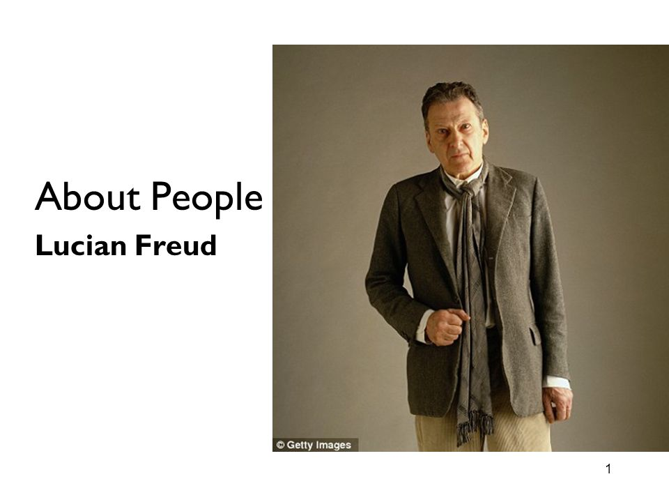 About People Lucian Freud