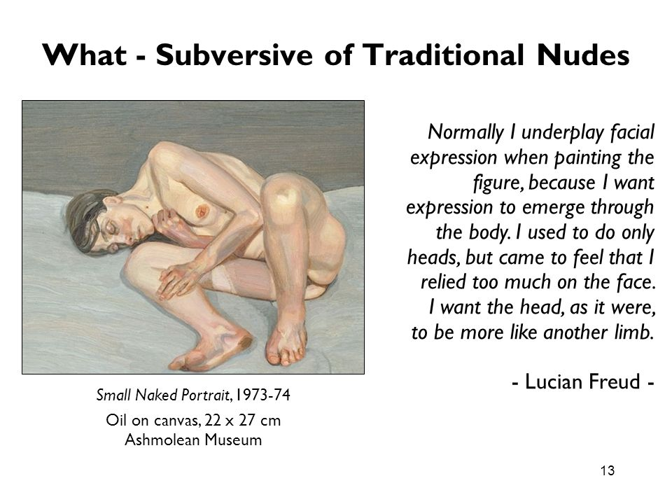 What - Subversive of Traditional Nudes