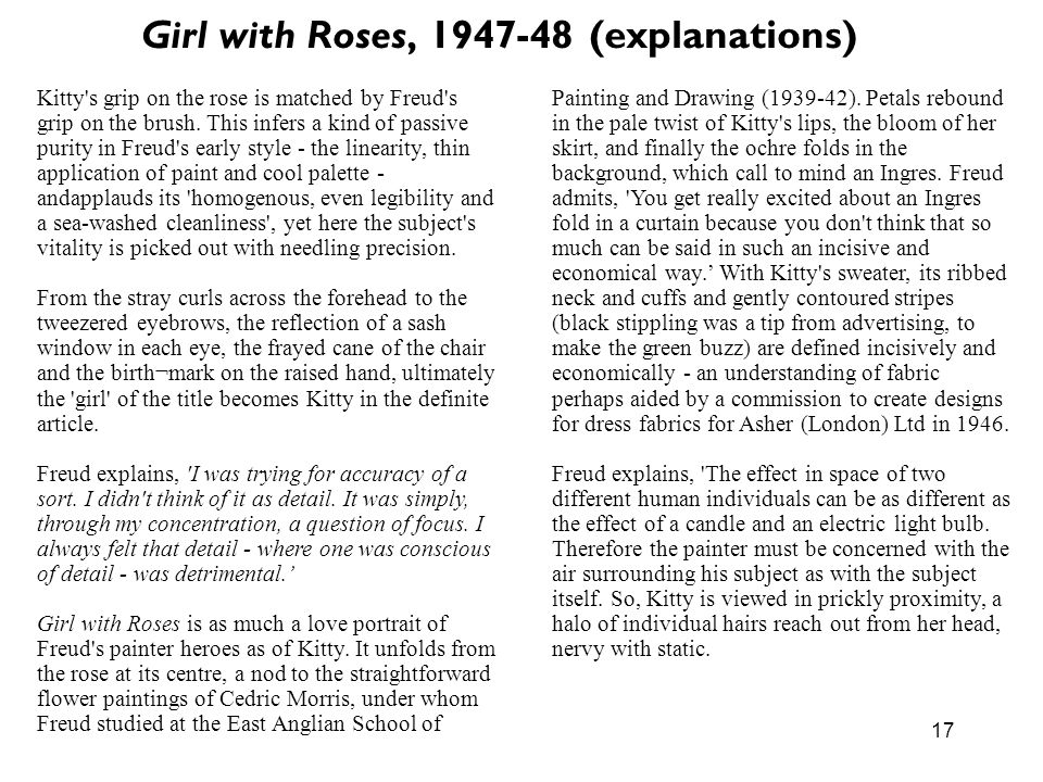 Girl with Roses, 1947-48 (explanations)