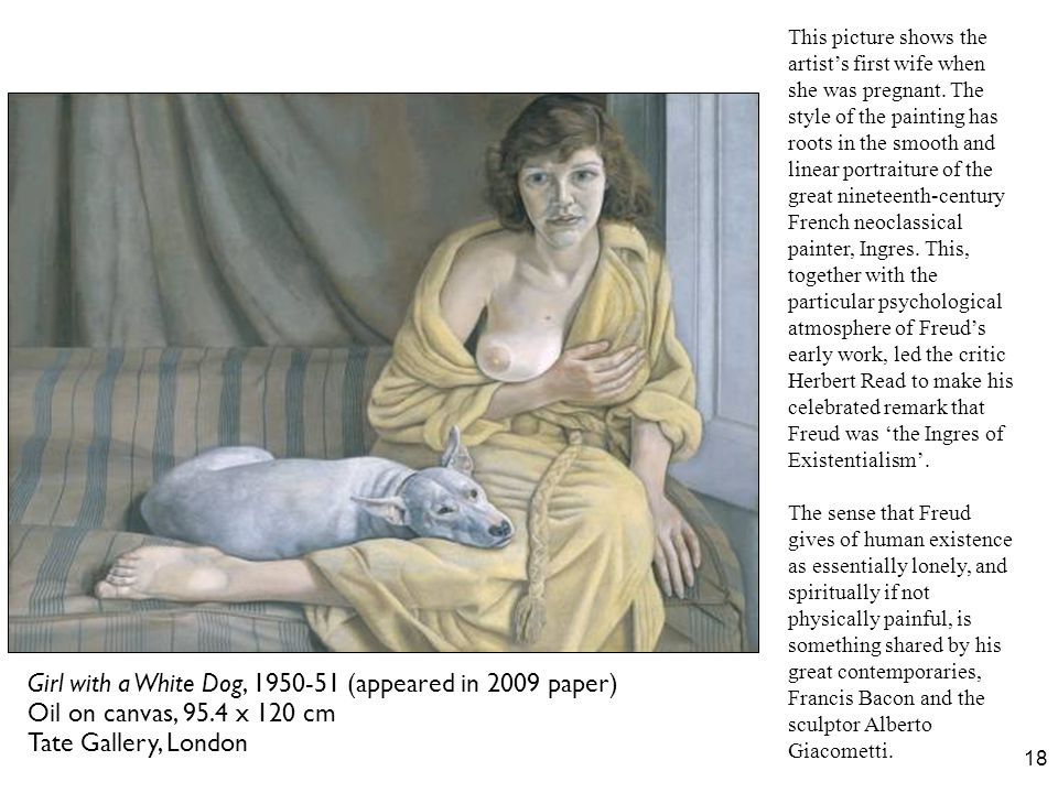 Girl with a White Dog, 1950-51 (appeared in 2009 paper)