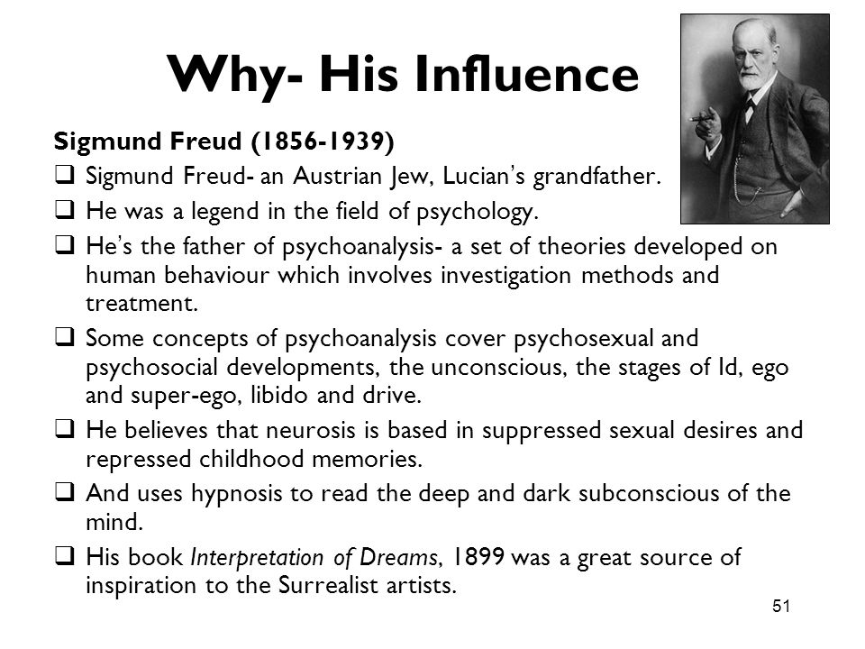 Why- His Influence Sigmund Freud ( )