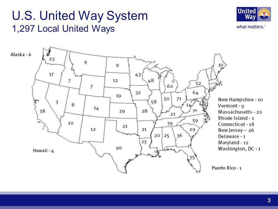 U.S. United Way System 1,297 Local United Ways