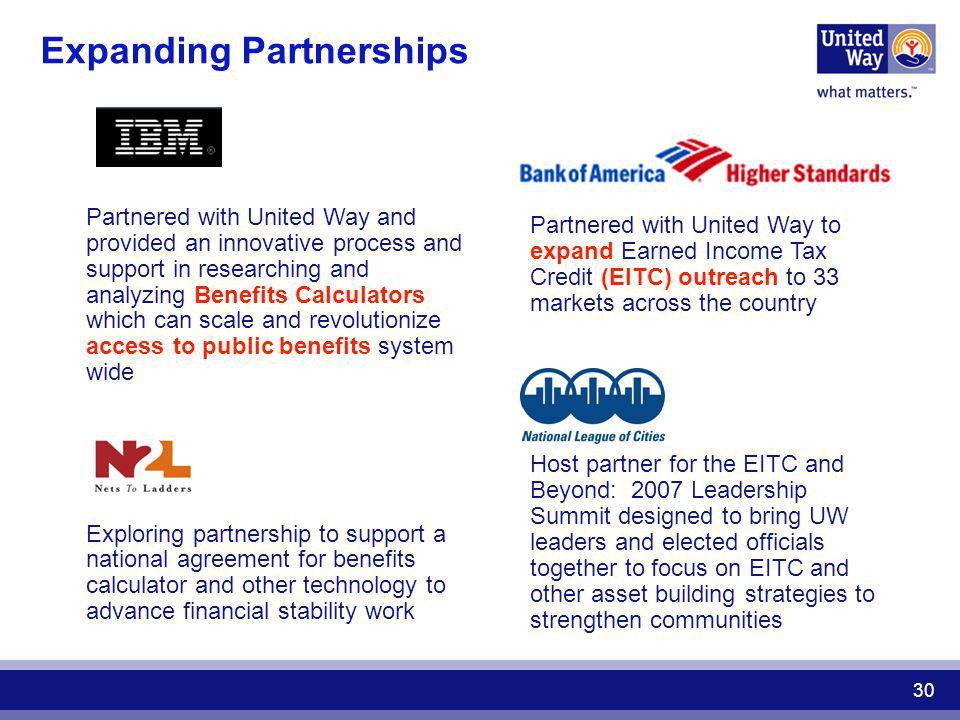 Expanding Partnerships